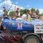 Polebridge 4th of July Parade, 2016 - Floating on the 4th