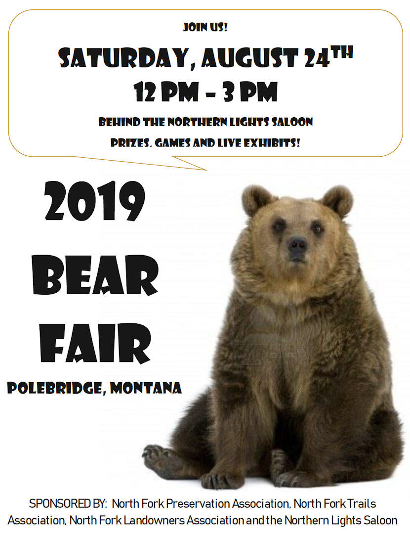 2019 Bear Fair Poster