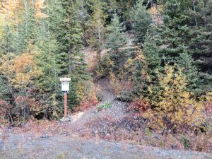 Moran Creek Trail #2 Trailhead, Oct 6, 2018 - W. K. Walker