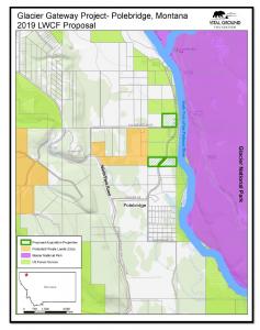 Map showing proposed Glacier Gateway land acquisition
