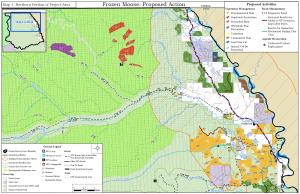 Frozen Moose Proposed Action map 1 - north half