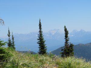 View through smoke from Coal Ridge towards Glacier NP, July 17, 2021 - W K Walker